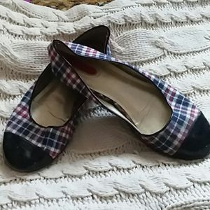 Mark by Avon blue and red plaid shoes